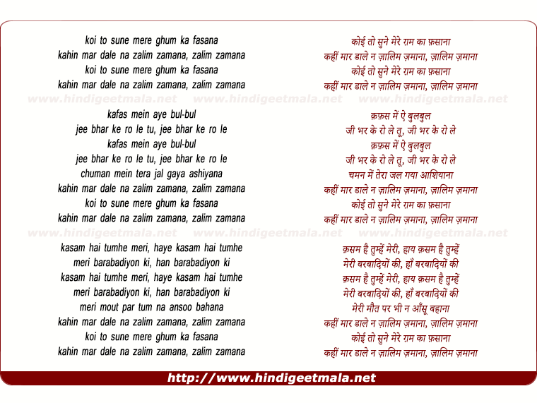 lyrics of song Koi To Sune Mere