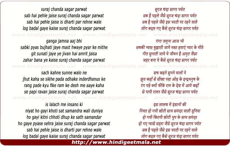 Nusrat Fateh Ali Khan - Chanda Suraj Lakhon Taare Lyrics ...