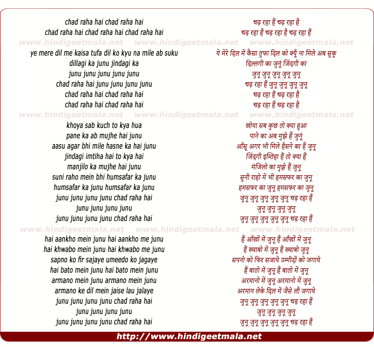 lyrics of song Hai Junu The Dj Suketu Mix