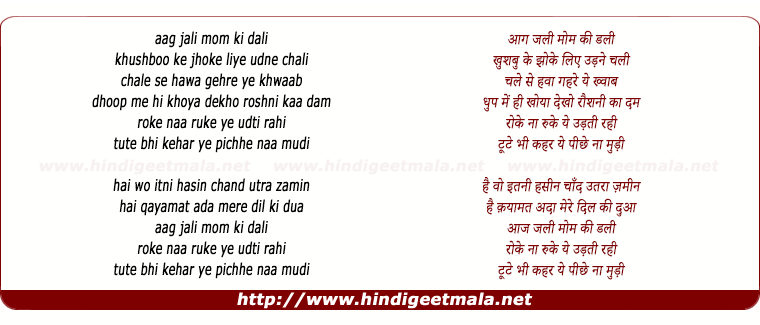 lyrics of song Roke Naa Ruke
